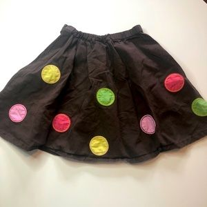 5/$20 Gymboree brown skirt with big polka dots 3